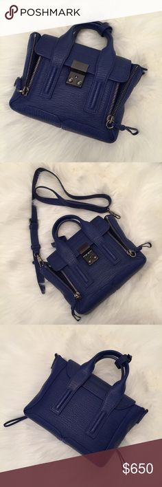 Philip Lim 3.1 Cobalt Blue Mini Pashli Satchel/Bag Cobalt blue with rhodium hardware. Immaculate, new condition. Lightly used & condition as photographed. Comes with strap, paperwork, price tag, and dust bag. 3.1 Phillip Lim Bags Crossbody Bags