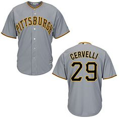 f2d3a421686 Get this Pittsburgh Pirates Francisco Cervelli Road Cool Base Replica Jersey  at ThePittsburghFan.com