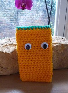 Halloween Pumpkin Crochet Phone cover £5.00