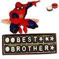 Deliver your loved ones this Best Brother Chocolate Pack (18 Pcs) with 1 Spiderman Rakhi and Roli Tilak Chawal