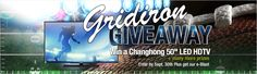 "Enter for a chance to win a Changhong 50"" LED HDTV and other cool prizes! http://www.neweggflash.com/promotions/sweepstakes/Sep-01/sweepstakes.html"
