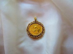 China, Uncirculated 1985 ½ Oz. Gold Panda In Very Fine 14kt. Gold Fancy Pendant #Panda $1848