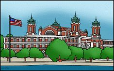 Ellis Island for Kids and Teachers - FREE American History Lesson Plans & Games for Kids Art Activities For Kids, Free Activities, History Lesson Plans, East Coast Travel, History For Kids, History Classroom, Ellis Island, Lessons For Kids, America