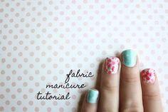Make Your Own Fabric Nail Wraps ⋆ Kyla Roma