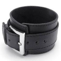 Amazon.com: KONOV Jewelry Wide Genuine Leather Men's Bangle Cuff Bracelet, Punk Rock Style, Unisex