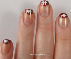 Football Nail Art Tips 2