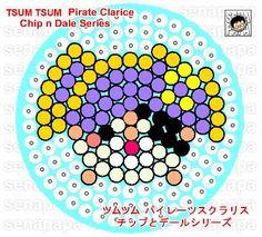 pirate clarice, tsum tsum, perler beads