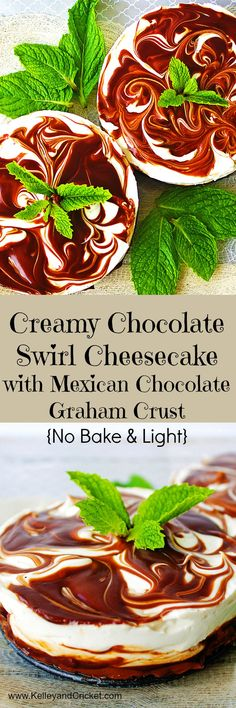 Chocolate Swirl Cheesecake Collage