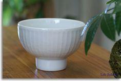 白山陶器 かんな彫 雑碗 (しのぎ)