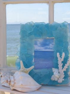 sea glass frame OMG I love this! Would go with my room decor! The most beautiful frame ever?!?!?!? YES!