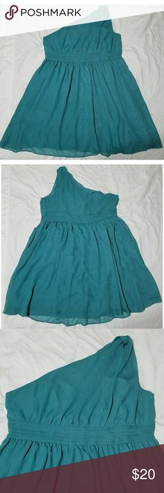 """Tevolio Teal One Shoulder Cocktail Dress Brand new without tags, Tevolio teal cocktail dress, size 22W.   100% polyester   Chest: 44"""" Armpit to armpit: 22"""" Length (shoulder to hem): 40"""" Length  (armpit to hem): 30"""" Waist: 42""""  All items come from a smoke and pet free home. Tevolio Dresses One Shoulder"""