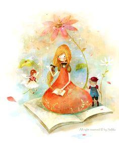 art by Kim Yoon Hee Humor Grafico, Fantastic Art, Children's Book Illustration, I Love Books, Whimsical Art, Cute Art, Book Art, Fairy Tales, Art Drawings