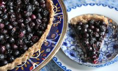 Blueberry Lemon Tart with a Coconut Crust ( gluten-free and vegan)