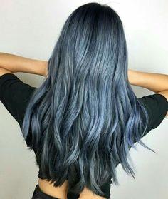 633 Me gusta, 7 comentarios – Fanola Professional USA (Danielle Shaw-Carrier) en… - All For Hair Color Balayage Hair Dye Colors, Cool Hair Color, Denim Blue Hair, Ash Blue Hair, Smokey Blue Hair, Silver Blue Hair, Blue Ash, Blue Mermaid Hair, Grunge Hair