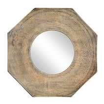Wooden Octagonal Mirror