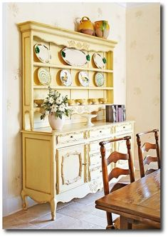 Hutch, cabinets, shelves on Pinterest | Armoires, Shabby chic and ...