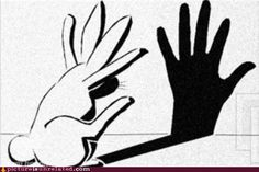 shadow hand puppet