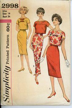 Simplicity 2998 Misses 1950s Skirt
