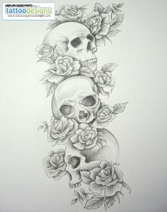 skull tattoos for women | new-skull-sleeve-tattoos-for-women-skull-tattoo-sleeves-skull-roses ...
