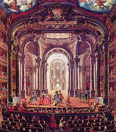 Baroque-- is often thought of as a period of artistic style that used exaggerated motion & clear, easily interpreted detail to produce drama, tension, exuberance, & grandeur in sculpture, painting, architecture, literature, dance, theater, and music. The style began around 1600 in Rome, Italy, and spread to most of Europe.[1] The popularity & success of the Baroque style was encouraged by the Catholic Church, which had decided at the time of the Council of Trent