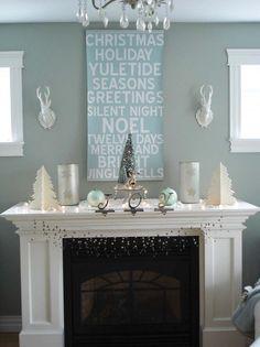 Christmas Mantel Decorating Ideas-11-1 Kindesign