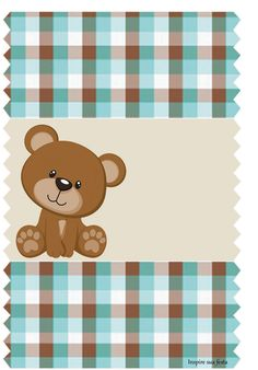 Bear in Brown and Light Blue: Free Printable Candy Bar Labels. Dibujos Baby Shower, Imprimibles Baby Shower, Project Life Baby, Scrapbook Bebe, Candy Bar Labels, Bear Theme, Baby Shawer, Bear Wallpaper, Chip Bags