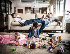 Fotos De Cómo Es En Realidad Ser Padres. La fotografía de Danielle Guenther
