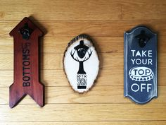 Cheers to DIY! Make your own wall mounted bottle opener, and grab your FREE downloadable stencils from The Printable Project.
