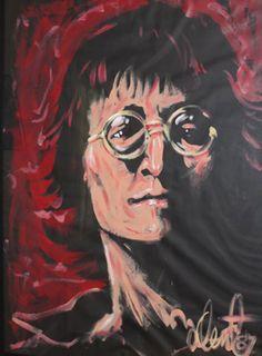 "Original Painting ""John Lennon 1987"" by Denny Dent"