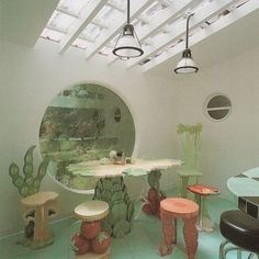 World's most vegan kitchen. Check out Mociun Home's IG account for rad decor images and a peak at the beautiful collection of home and gift items carried there ❤️ Interior Architecture, Interior And Exterior, Organic Architecture, Futuristic Architecture, Retro Interior Design, 1980s Interior, Pretty Room, Aesthetic Room Decor, Retro Home