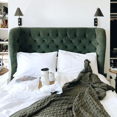 Home Decor Living Room Sleep Well At Night With Ethical Bedlinen.Home Decor Living Room Sleep Well At Night With Ethical Bedlinen Architecture Restaurant, Decoration Bedroom, Green Bedding, Bed Linen Design, Table Design, Home Bedroom, Bedrooms, Interiores Design, Home Decor Accessories