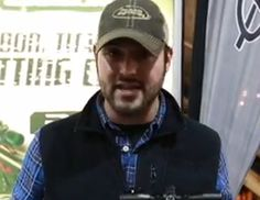 Nate Hosie shows off the features of the new crossbow from Barnett
