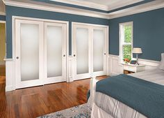 What if we do something like this for the closet? With sliding doors that look a bit more like french doors?