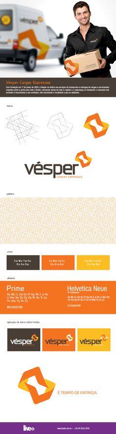 Marca criada para Vésper Cargas Expressas de Caxias do Sul.