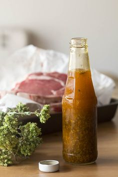 salsa-chimichurri-thermomix Sauces, Magimix Cook, Argentina Food, Cuban Dishes, China Food, Going Vegetarian, Barbacoa, Hot Sauce Bottles, Chutney