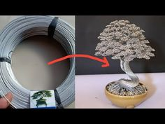 How to make tree with wire Wire Tutorials, Jewelry Making Tutorials, Wire Wrapped Earrings, Wire Wrapped Pendant, Wire Earrings, Wire Bracelets, Barbed Wire Art, Wire Jewelry Patterns, Bonsai Wire