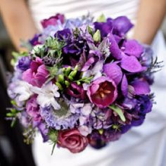 Apparently purple is a hot wedding color in 2013