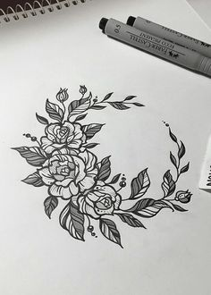2020 Glamour and eye-catching: 30 Rose tattoos design diagram ideas - Body Art Rose Tattoos, Body Art Tattoos, Tatoos, Flower Tattoos, Small Tattoos, Henne Tattoo, Geniale Tattoos, Piercing Tattoo, Future Tattoos