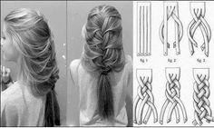 Tuto coiffure : Tresse bizarre dans coiffure, cheveux 417162_460504743990699_137724828_n