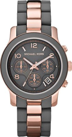 Michael Kors Jet Set Women's Watch Rose Gold Black Dial Chronograph Mk5465