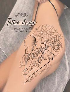 Printable Elephant Mandala Flowers Rose Tattoo Design Available on Etsy Tattoo . - Printable Elephant Mandala Flower Rose Tattoo Design Available on Etsy Tattoo Design – Laurenceve - Elephant Mandala Tattoo, Elephant Thigh Tattoo, Elephant Tattoo Design, Elephant Tattoos, Mandala Tattoo Design, Tattoo Sleeve Designs, Mandala Hip Tattoo, Hip Thigh Tattoos, Dope Tattoos
