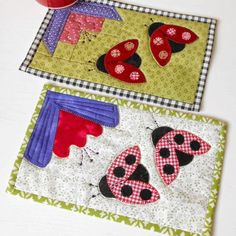 My Ladybug/Ladybird mug rug will be on my bedside table this month as it is…