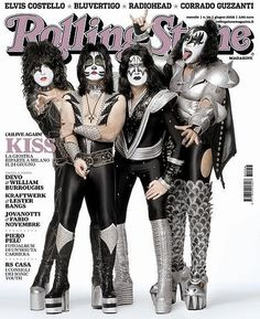 Kiss on Italian Rolling Stone Cover