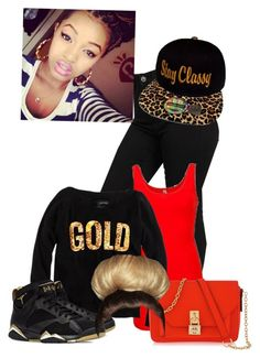 """Gold All In My Watch Like Bish Whet"" by simply-original1993 ❤ liked on Polyvore featuring BKE core and Henri Bendel"