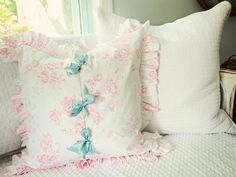 Simple Shabby Chic Ruffled Pillow