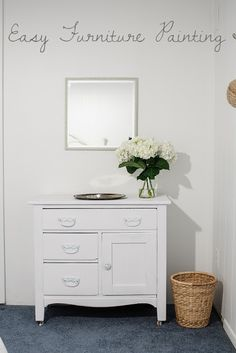 Learn how to easily paint your furniture for a quick and easy home decor update. :)