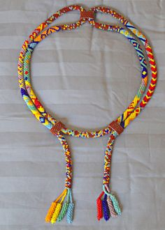 Seed bead necklace.