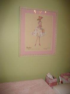 Baby Girl Nursery - Fashionably Preppy, pink and green, vintage barbie