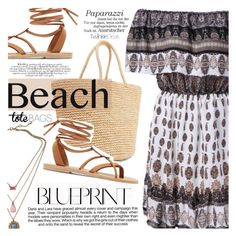 """""""In the Bag: Beach Totes"""" by vanjazivadinovic ❤ liked on Polyvore featuring Sensi Studio, Valia Gabriel, Industrie, vintage, polyvoreeditorial, twinkledeals and beachtotes"""
