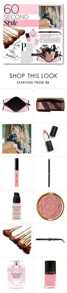 """""""60 Second Style Weekend Beauty"""" by lalalaballa22 ❤ liked on Polyvore featuring beauty, Victoria's Secret, Hourglass Cosmetics, Sigma Beauty, Bobbi Brown Cosmetics, Givenchy, Milani, Bio Ionic, LVX and Formula 10.0.6"""